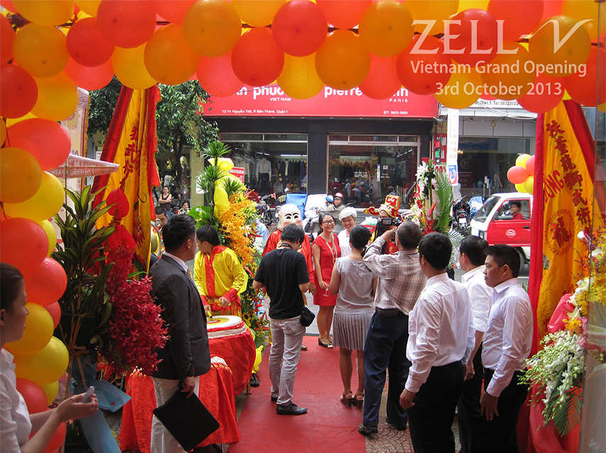 ZÉLL-V Ho Chi Minh, Vietnam Official Opening on 3 Oct 2013